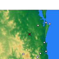 Nearby Forecast Locations - Gympie - Mapa