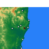 Nearby Forecast Locations - Alstonville - Mapa