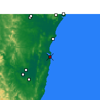 Nearby Forecast Locations - Yamba - Mapa