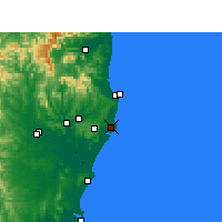 Nearby Forecast Locations - Ballina - Mapa