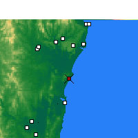 Nearby Forecast Locations - Evans Head - Mapa