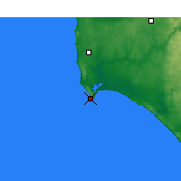 Nearby Forecast Locations - Augusta Cape - Mapa