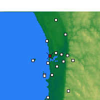 Nearby Forecast Locations - Swanbourne - Mapa