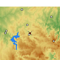 Nearby Forecast Locations - Mudgee aeropuerto - Mapa
