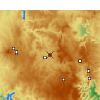 Nearby Forecast Locations - Bathurst - Mapa