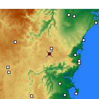 Nearby Forecast Locations - Moss Vale - Mapa