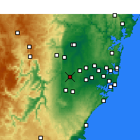 Nearby Forecast Locations - Badgery's Creek - Mapa