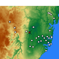 Nearby Forecast Locations - Penrith - Mapa