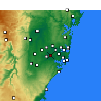 Nearby Forecast Locations - Bankstown - Mapa