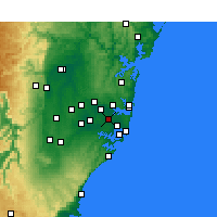 Nearby Forecast Locations - Canterbury - Mapa