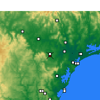 Nearby Forecast Locations - Cessnock - Mapa