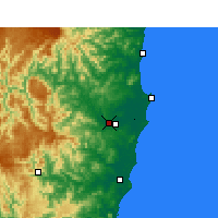 Nearby Forecast Locations - Kempsey aeropuerto - Mapa
