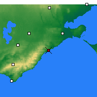 Nearby Forecast Locations - Aireys Inlet - Mapa