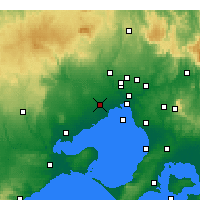 Nearby Forecast Locations - Melbourne - Mapa