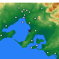 Nearby Forecast Locations - Frankston - Mapa