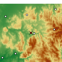 Nearby Forecast Locations - Eildon - Mapa