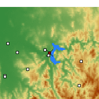 Nearby Forecast Locations - Hume Dam - Mapa
