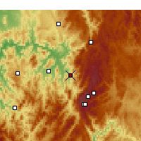 Nearby Forecast Locations - Khancoban - Mapa