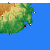 Nearby Forecast Locations - Mallacoota - Mapa