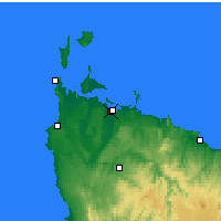 Nearby Forecast Locations - Strahan - Mapa