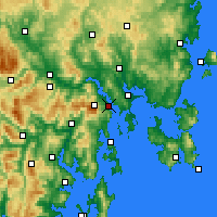 Nearby Forecast Locations - Hobart - Mapa
