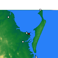 Nearby Forecast Locations - Hervey Bay aeropuerto - Mapa