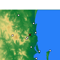 Nearby Forecast Locations - Nambour - Mapa
