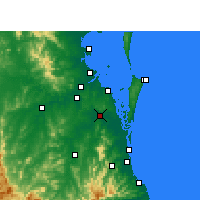 Nearby Forecast Locations - Loganholme - Mapa