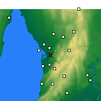 Nearby Forecast Locations - Parafield - Mapa