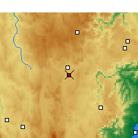 Nearby Forecast Locations - Goulburn Aeropuerto - Mapa