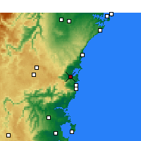 Nearby Forecast Locations - Wollongong - Mapa