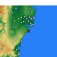 Nearby Forecast Locations - Wattamolla Aws - Mapa