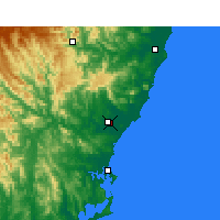 Nearby Forecast Locations - Taree - Mapa