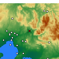 Nearby Forecast Locations - Tarrawarra - Mapa