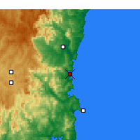 Nearby Forecast Locations - Merimbula - Mapa