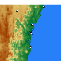 Nearby Forecast Locations - Moruya aeropuerto - Mapa