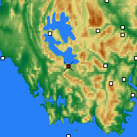 Nearby Forecast Locations - Scotts Peak - Mapa