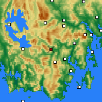 Nearby Forecast Locations - Warra - Mapa