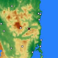 Nearby Forecast Locations - Fingal - Mapa