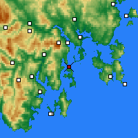 Nearby Forecast Locations - Bull Bay - Mapa