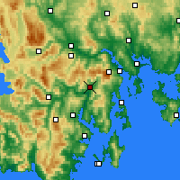 Nearby Forecast Locations - Grove - Mapa