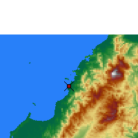 Nearby Forecast Locations - Kota Kinabalu - Mapa