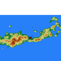 Nearby Forecast Locations - Maumere - Mapa