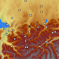 Nearby Forecast Locations - Allgäu Alps - Mapa
