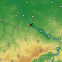 Nearby Forecast Locations - Meißen - Mapa
