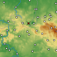 Nearby Forecast Locations - Zittau - Mapa