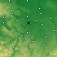 Nearby Forecast Locations - Merseburg - Mapa