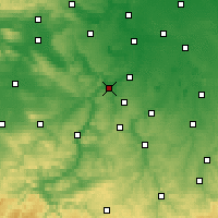 Nearby Forecast Locations - Naumburgo - Mapa