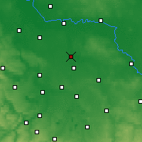 Nearby Forecast Locations - Bitterfeld - Mapa