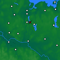 Nearby Forecast Locations - Ratzeburgo - Mapa